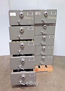 Mosler GSA 5 Drawer File Cabinet Combination Locks Legal Security Safe Multilock