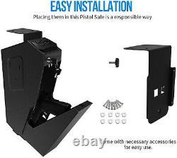 Mounted Firearm Handgun Safe Box Gun Pistol Wall Car Home Combination Key Lock