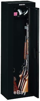 NEW Stack-On 8-Gun Security Cabinet Rifle Safe Storage Firearm 3-point locking