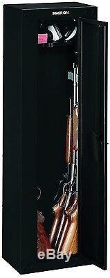 New Security Plus 8 Gun Long Gun Safe Black Storage Cabinet with Coded Lock