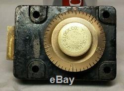 Old Antique Sargent & Greenleaf Victor Safe & Lock Co. Brass Combination Lock