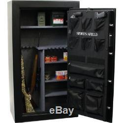 Premium 33-Long Guns plus 6 handgun Safe with Electric Lock Fire Resistant Cap