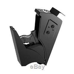 Quick Access Gun Safe Under Desk Security Handgun Pistol Storage Box Keypad New