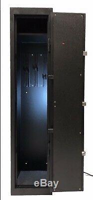 Quick Access Large Biometric Metal Rifle Gun Cabinet Safe