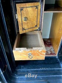 Rare Antique 1877 Floor Safe Diebold Safe & Lock Co Drawers Keys Combination
