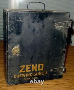 Rare Zeno Chewing Gum Strong Box Money Safe With Combination Lock