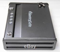 SENTRY PISTOL SAFE P48 Access Biometric Gun Safe, Single Gun Capacity, QAP1BE