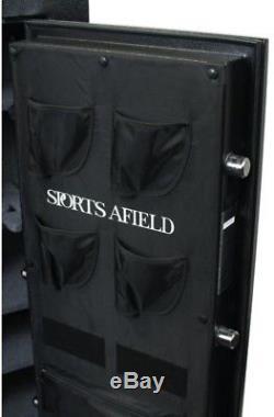 SPORTS AFIELD Standard Series 33-Gun Fire Rated, E-Lock Gun Safe, Black Textured