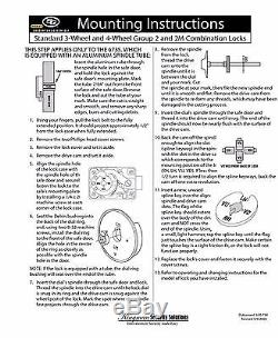 S&G Sargent and Greenleaf 6730-102G Group 2 Spy Proof Dial & Lock Kit Gold