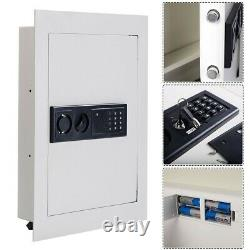 Safe In Wall Safe Lock Box Flat Recessed Stainless Steel with Keypad