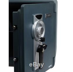 Safety Combination Lock Box Waterproof Fire Resistant Safe Home Security Storage
