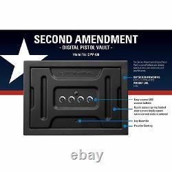 Second Amendment Safe Vault Storage Case for Pistol Handgun Gun with Digital Lock