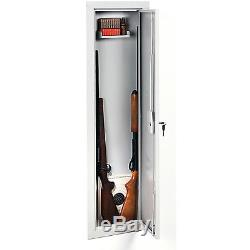 Security Gun Cabinet Stackon Full Length In Wall Gun Storage Vault Safe Key Lock