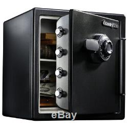 Security Safe Combination Lock Box Home Cash Gun Chest Fireproof 1.23 CuFt