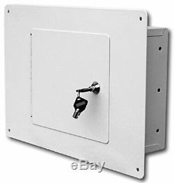Security Steel Wall Safe Lock Tubular Mount Gun Hidden Floor Studs Key