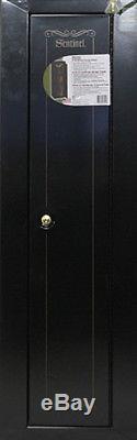 Sentinel 10 Gun Security Cabinet Safe Rifles Short Storage Gun Key Coded Lock