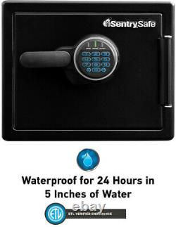 SentrySafe 0.8 cu. Ft. Fireproof Waterproof Safe Digital Keypad Lock Steel Black