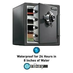 SentrySafe Fire/Water Resistant 1.23-cu ft Combination Lock Residential Floor Sa