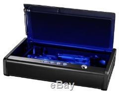 SentrySafe Pistol Safe, Quick Access Gun Safe, Two Pistol Capacity + LED Lights