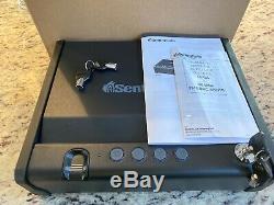 SentrySafe QAP1BE Gun Safe with Keys Lock One Handgun Capacity Returned Item