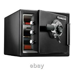 SentrySafe SFW123DTB Fire and Water-Resistant Safe with Dial Lock Black