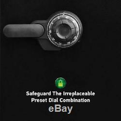 SentrySafe Security Combination Lock Box Home Cash Gun Chest Fireproof 1.23 CuFt