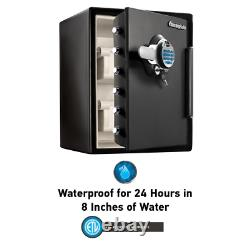 Sentry Fireproof Safe Biometric Lock Fingerprint Scanner Waterproof Storage Box