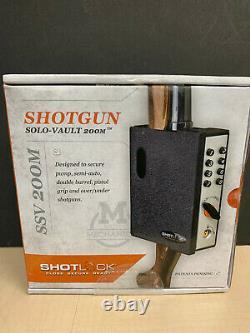 ShotLock Shotgun Vault 200M Gun Lock Safe Combo Key Wall Door Mounting