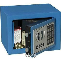 Small Steel Security Safe with Digital Lock, 0.17 cu. Ft, four colors