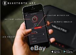 Smart Handgun Safe Bluetooth Fingerprint Vault Pistol Safe Gun Security Storage