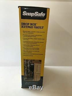 SnapSafe Drop Box Keypad Vault, Black Pistol NEW Gun Safe Colt Beretta Sig H&K