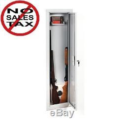 StackOn Full Length In-Wall Gun Storage Cabinet Safe Rifle Security Lock Shotgun