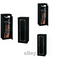 Stack-On 14 Gun Ammo Security Cabinet Storage Safe, Black