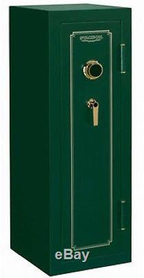 Stack-On 14-Gun Safe with Combination Lock Matte Hunter Green
