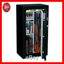 Stack-On 24 Gun Fire Resistant Security Safe with Electronic Lock FS-24-MB-E Mat