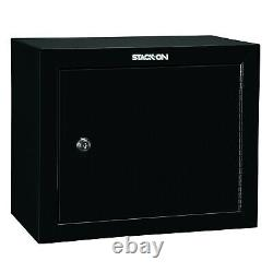 Stack On GCB-900 Stackable Locking 18 Inch Steel Pistol and Ammo Cabinet Safe
