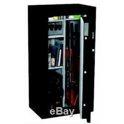 Stack-On Gun Safe Adjustable Shelves Electronic Lock Matte Black (24-Gun)