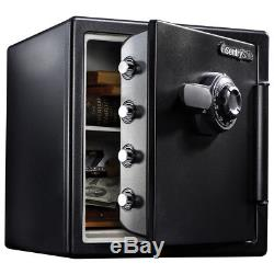 Steel Dial Combination Lock Personal Safe Waterproof Fireproof Valuables Chest
