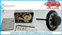 Steel Safe 3 Wheel Combination Safe Lock Gun Safes Drug Safes FREE POST