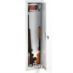 Storage Steel Safe Gun Cabinet Electronic Lock 2 Shotgun & Rifles Safety Firearm