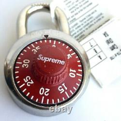 Supreme x Master Lock Combination Lock Red withbox
