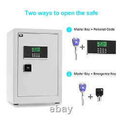TIGERKING Digital Security Safe Box, Double Safety Key Lock Box Safe for Home