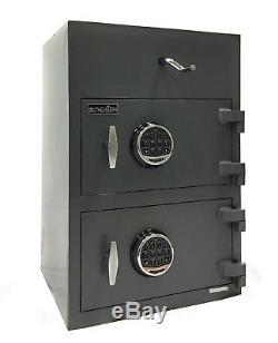 Top Loading Double Door Drop Depository Safe UL listed Combination/Digital Lock