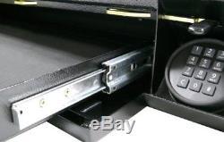 Under Bed Rifle Shotgun Hidden Storing Secret Electronic Lock Safe Concealment