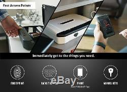 VAULTEK VT20i Biometric Bluetooth Smart Pistol Safe with Auto-Open Lid and Recha