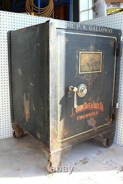 VINTAGE J BAUM Safe & Lock Co, Cincinnati, O. /w Combo & Keys for Interior Locks