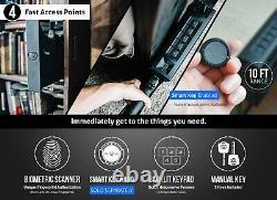 Vaultek NSL20i-BK Biometric WiFi Slider Series Safe (Black)