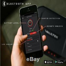 Vaultek VT10i Black Biometric Handgun Safe Bluetooth Smart Pistol Safe