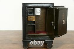 Victorian Antique Combination Lock Office Safe, Original Painting, Baum #38381