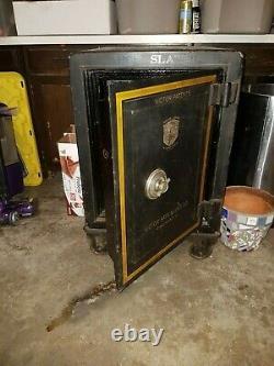 Victorian Antique Iron Office Safe, Combination Lock, Victor Cincinnati